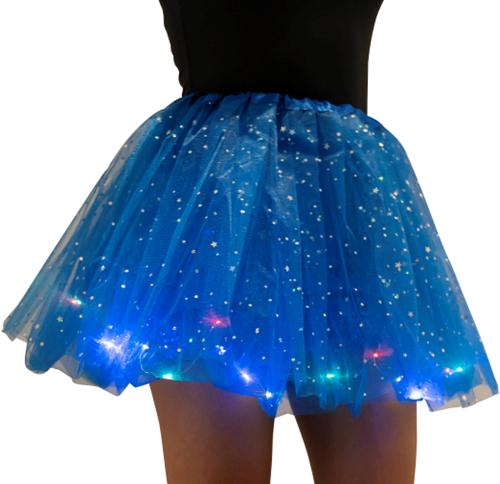 Tule Rokje Blauw met Gekleurde LED-lichtjes