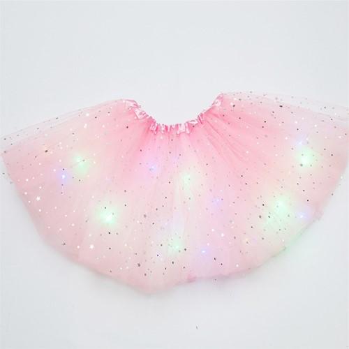 Tule Rokje Roze met Gekleurde LED-lichtjes