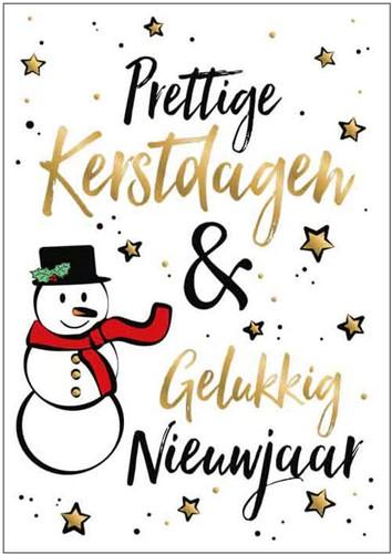 Wenskaart Prettige Kerstdagen & Gelukkig Nieuwjaar