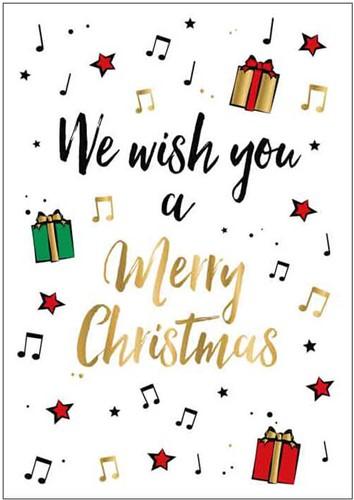 Wenskaart We Wish You A Merry Christmas