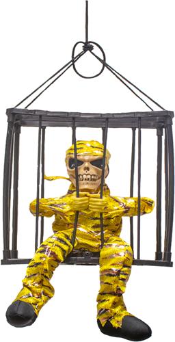 Gevangene Zwart-Geel in Kooi met Bewegingssensor (geluid+LED)