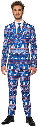 Herenkostuum Suitmeister Christmas Blue Nordic