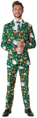 Herenkostuum Suitmeister Santa Elves Green