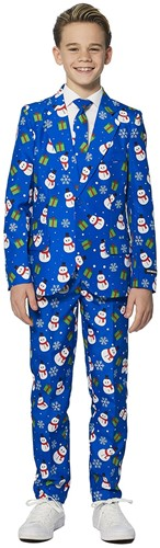 Kinderkostuum Suitmeister Christmas Blue Snowman