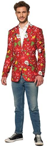 Colbert Suitmeister Christmas Red Icons - Light Up voor heren