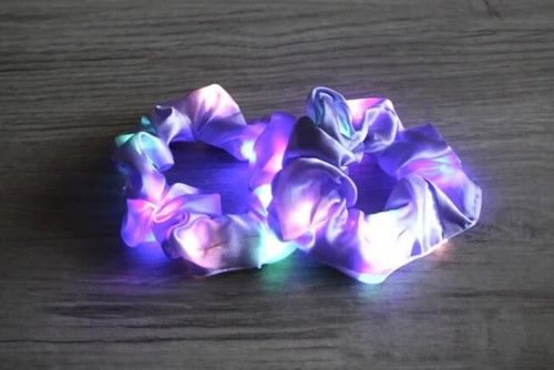 Scrunchie Lila met LED-Lichtjes