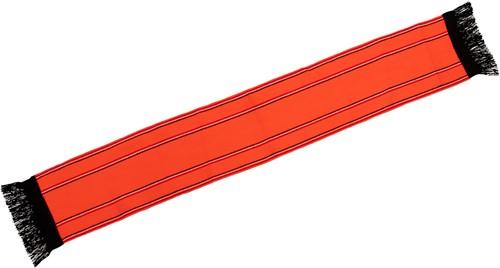 Sjaal Oranje met zwarte franje