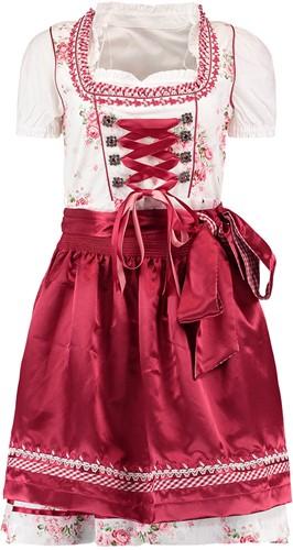 Dirndl Lena Bloemen Dark Red Luxe 3dlg.