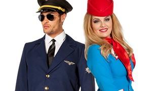Stewardess en piloten kostuums kopen bij Carnavalsland
