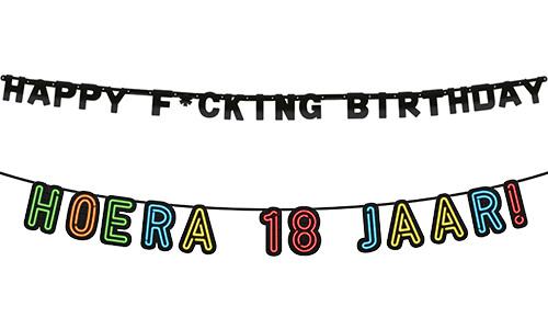 Verjaardag Slingers
