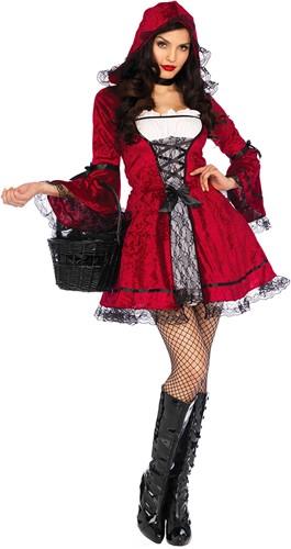 Dameskostuum Gothic Roodkapje - Miss Red